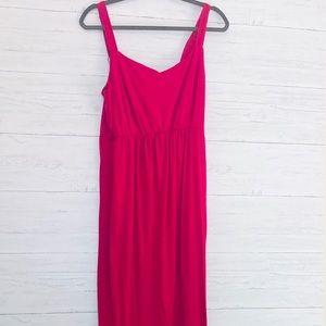 FADED GLORY Pink Maxi Dress - 2X (Plus)
